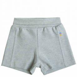 Lyseblå melange shorts i øko bomuld fra Joha