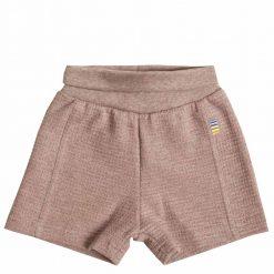 Rosa melange shorts i øko bomuld fra Joha