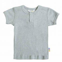 Lyseblå melange t-shirt i øko bomuld