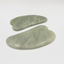 Gua Sha grøn jade