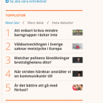 Skärmdump från Dagens Samhälle