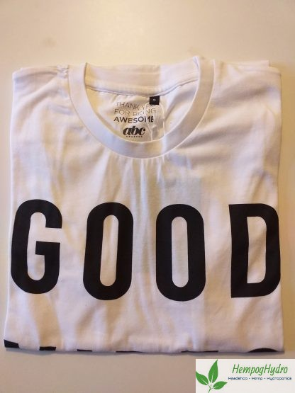Good vibes only, fair trade, økologisk, t-shirts, small, mand
