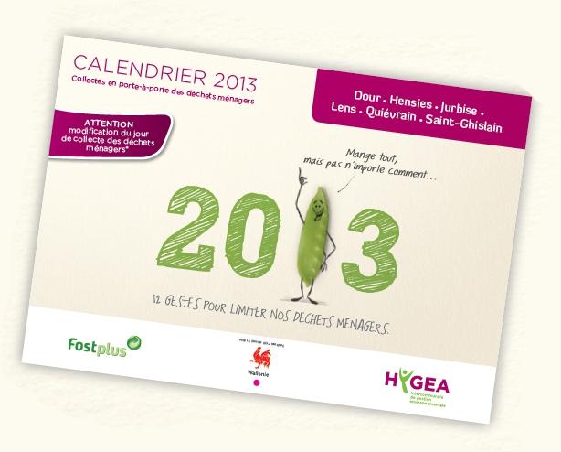 Dates des collectes 2013 – Collecte en porte-à-porte des déchets ménagers
