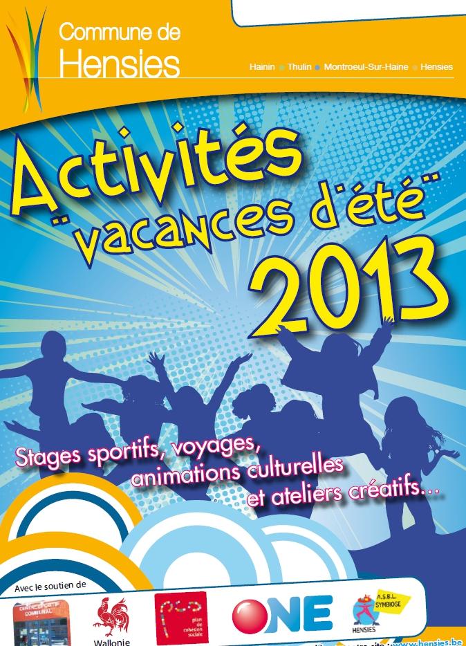 Activités – Vacances d'été 2013