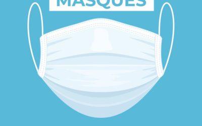 AVIS À LA POPULATION ‼️  Distribution des masques