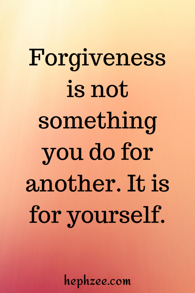 What forgiveness is not
