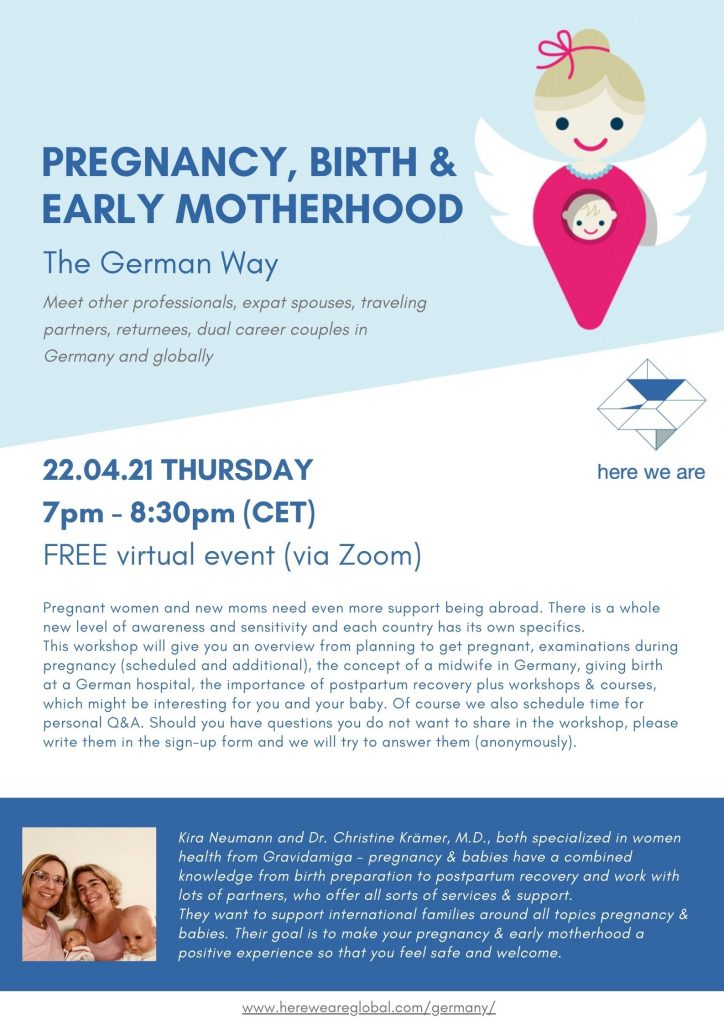 Pregnancy, Birth and Early Motherhood workshop poster