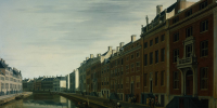 Golden age painting by Gerrit Berckheyde (1672): The Bend in the Herengracht in Amsterdam