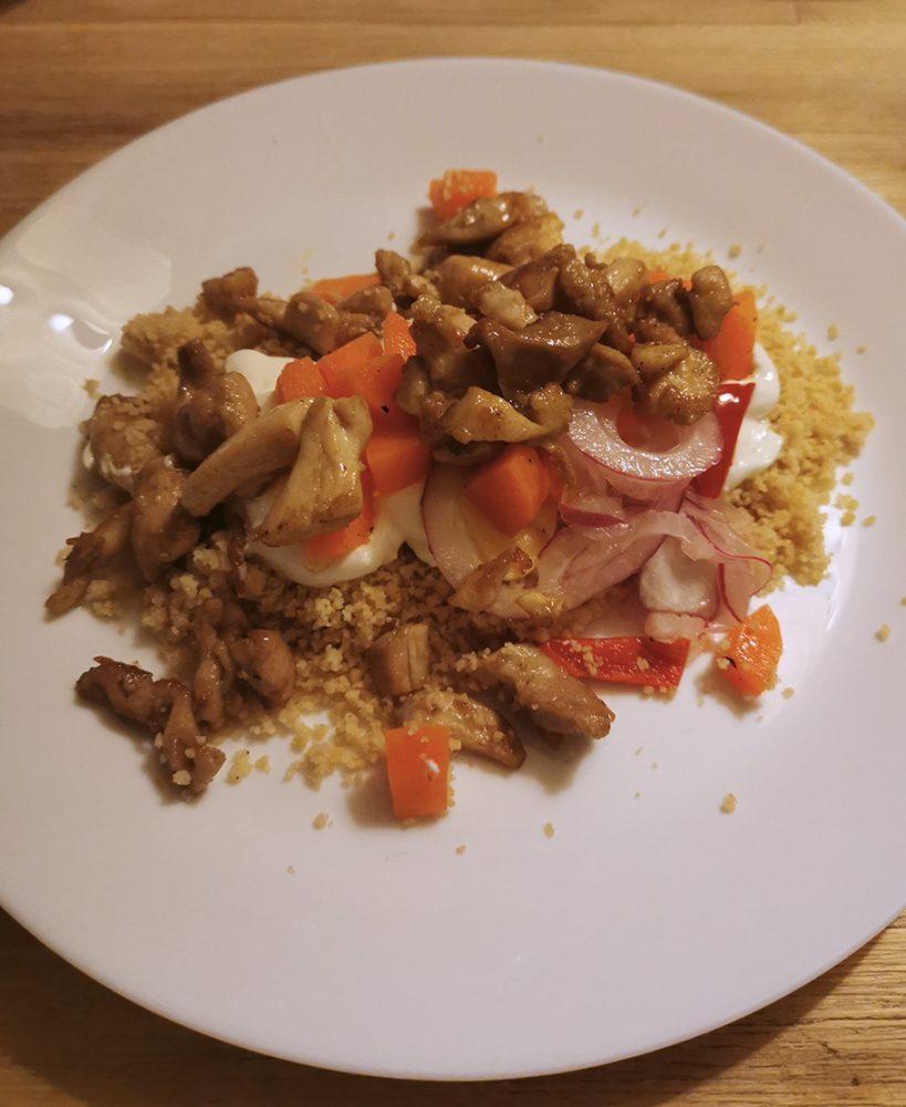 Krydert kylling med Couscous salat