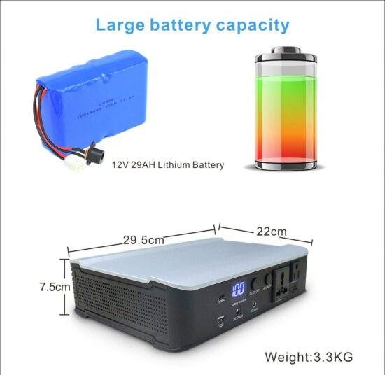 300W AC/DC POWER BANK MED LITHIUM BATTERIES