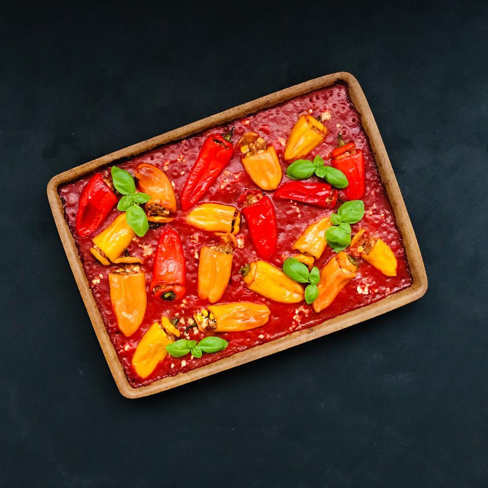 Gefuellte Paprika Hackfleisch Feta