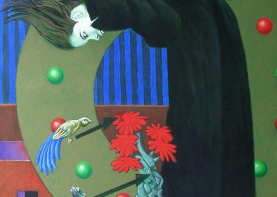 Alle Anschlüsse auf einen Blick • 1996, Acryl auf Leinwand, 170 x 130 cm