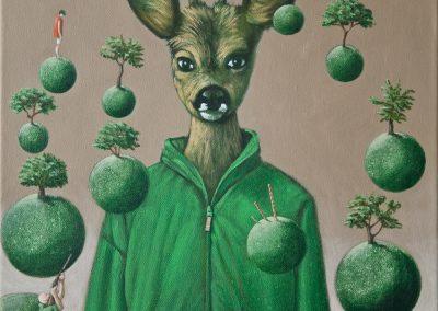 Am Tag der Königin • 2012, Acryl auf Leinwand, 50 x 40 cm