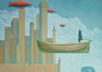 Das Wunder von Badolato • 1998, Acryl auf Holz, 110 x 90 cm