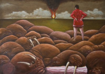 Da! • 2009, Öl auf Leinwand, 80 x 100 cm