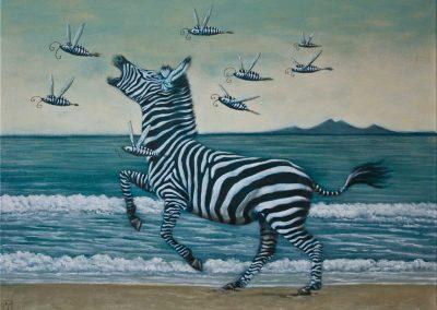 Der Weg zum P • 2012, Acryl auf Leinwand, 60 x 80 cm