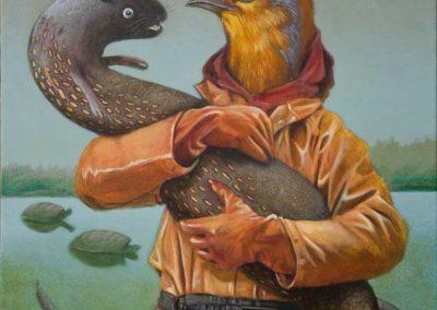 Die Jagd ist beendet • 2012, Acryl auf Leinwand, 60 x 50 cm