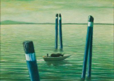 Du könntest es paradiesisch nennen • 1999, Acryl auf Holz, 80 x 60 cm