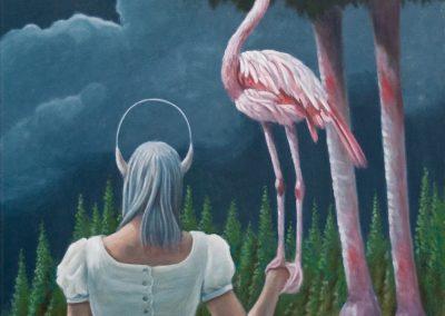 Er hat keine Angst • 2010, Öl auf Leinwand, 100 x 50 cm