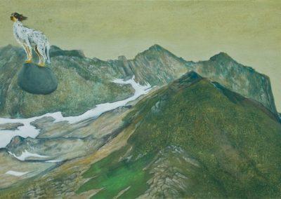 Er lernt sehr schnell • 2011, Acryl auf Leinwand, 50 x 100 cm