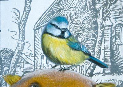 Kommt noch einer • 2011, Acryl auf Leinwand, 50 x 40 cm