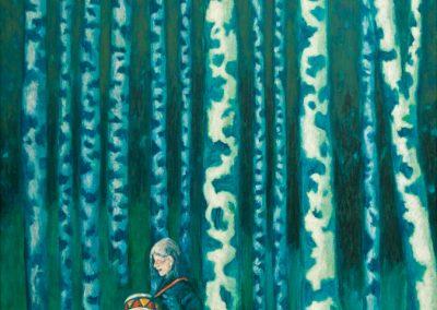 Lauf mit Lars • 2000, Acryl auf Holz, 80 x 54 cm