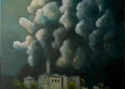 Man muss schon dabeigewesen sein, um es nicht zu verstehen • 2012, Acryl auf Leinwand, 150 x 120 cm