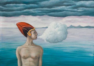 Mr. Papageientaucher • 2004, Acryl auf Leinwand, 80 x 60 cm