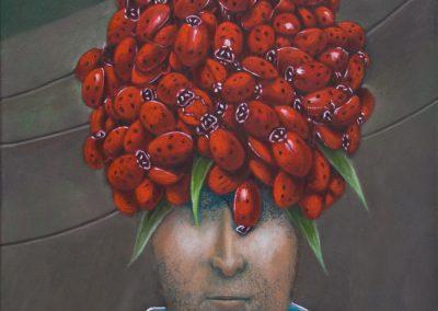 Räubermütze • 2009, Öl auf Leinwand, 60 x 50 cm