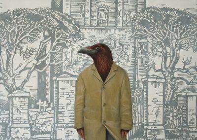Die Rückkehr des roten Raben • 2011, Acryl auf Leinwand, 80 x 100 cm