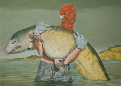 Schon wieder recht gehabt! • 2012, Acryl auf Leinwand, 60 x 80 cm
