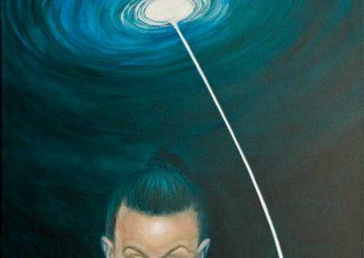 To the machine • 2012, Acryl auf Leinwand, 80 x 60 cm