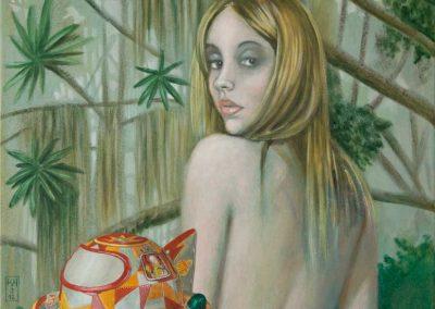 Vorschlag für einen spannenden Handlungsort • 2012, Acryl auf Leinwand, 60 x 50 cm