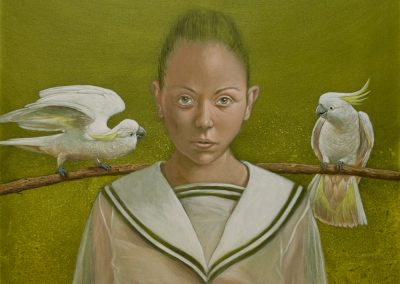 Waiting for the Blackbird • 2014, Acryl auf Leinwand, 100 x 100 cm