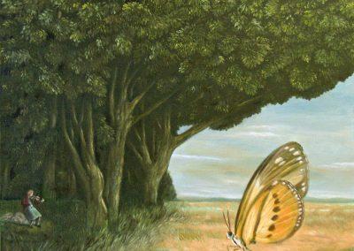 Die gelbe Zeit • 2007, AÖl auf Leinwand, 100 x 100 cm
