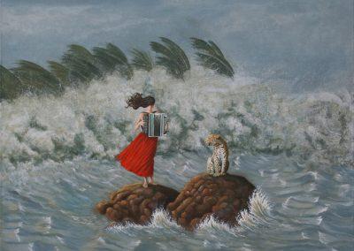 Einfach nur tanzen • 2004, Acryl auf Leinwand, 80 x 100 cm