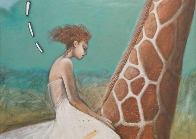 Sehen Sie, es gibt sie doch • 2005, Acryl auf Leinwand, 120 x 105 cm
