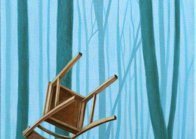 Gern würde ich zum Mond fahren • 2003, Acryl auf Leinwand, 80 x 40 cm