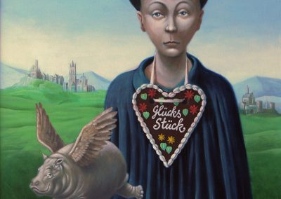 Glücksstück • 2003, Acryl auf Holz, 100 x 70 cm