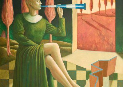 Grüße an Pamphalon • 1995, Acryl auf Leinwand, 170 x 130 cm