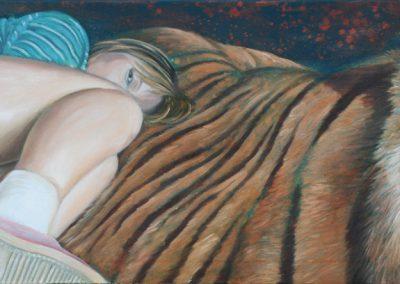 Keiner da • 2007, Öl auf Leinwand, 50 x 160 cm