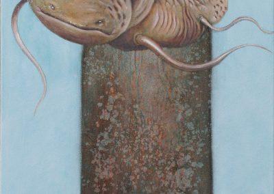 Komme wieder, ja komme wieder • 2007, Öl auf Leinwand, 160 x 50 cm