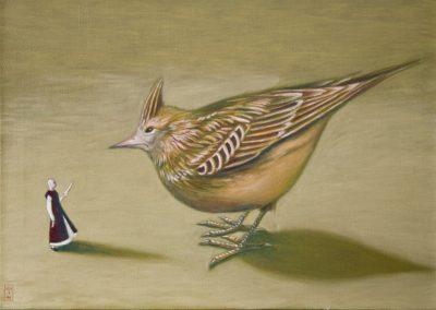 Ruiz hat viele Feinde • 1998, Acryl auf Leinwand, 50 x 70 cm