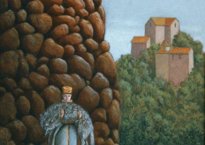 Schluß Leben • 1999, Acryl auf Holz, 90 x 60 cm