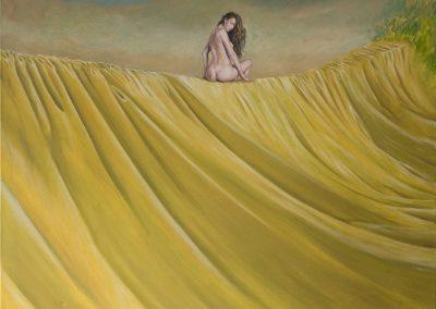 Und wann das nächstemal nicht • 2008, Öl auf Leinwand, 100 x 50 cm