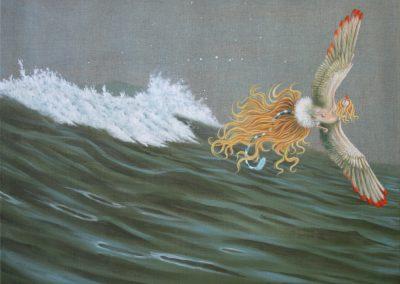 Wundervogel • 2005, Acryl auf Leinwand, 80 x 100 cm