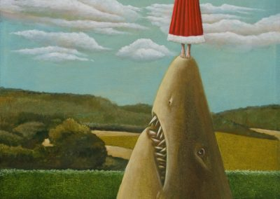 Yellow shark • 2010, Acryl auf Leinwand, 100 x 80 cm