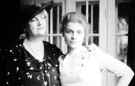 Alma Mahler y su hija Anna