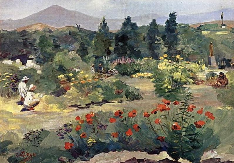 """""""En el jardín botánico"""" Martiros Saryan   1951"""