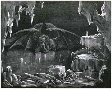 El lago Cocito según Gustave Doré